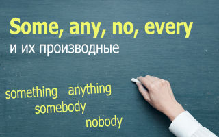 Some, any, no, every и их производные (somebody, anybody, something, anything)