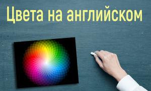 Учим цвета на английском языке с переводом и произношением