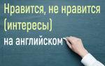 Фразы про нравится, не нравится на английском — интересы и привычки