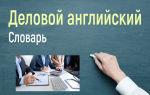 Словарь делового английского   список фраз по разделам бизнеса