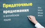 Придаточные предложения в английском языке