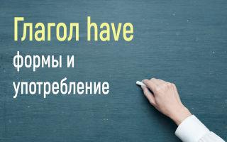 Глагол have/has/had в английском языке с переводом